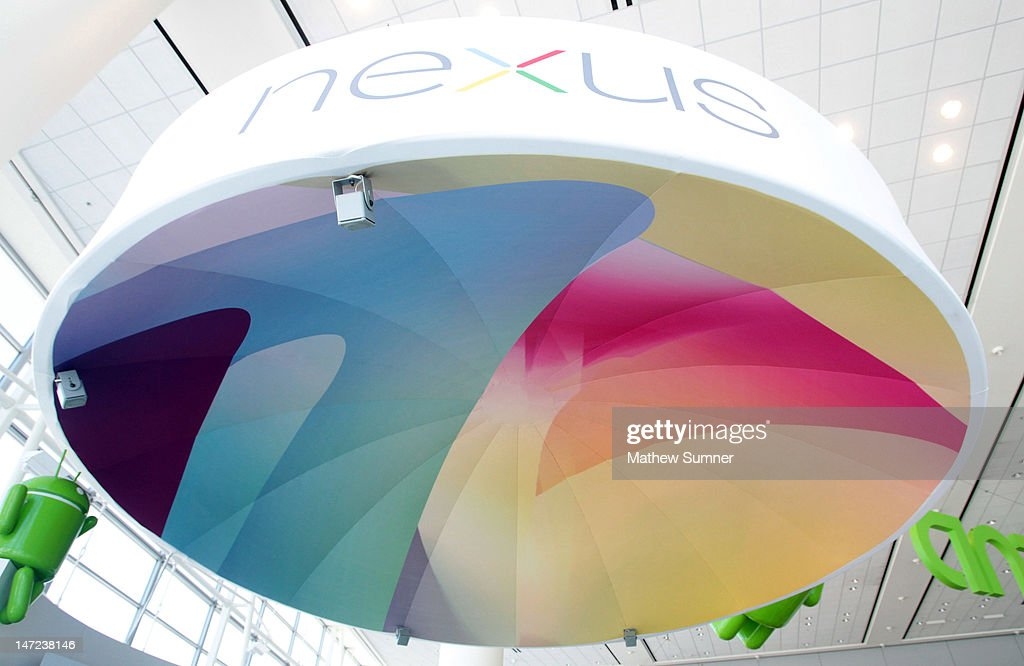 A Nexus display hangs at Google's Developers Conference on June 27, 2012 in San Francisco, California. The new Nexus 7 is Google's first tablet, utilizing a 7-inch screen, a Tegra 3 quad-core processor, and will launch next month for $199 running on the latest Android Jelly Bean OS.
