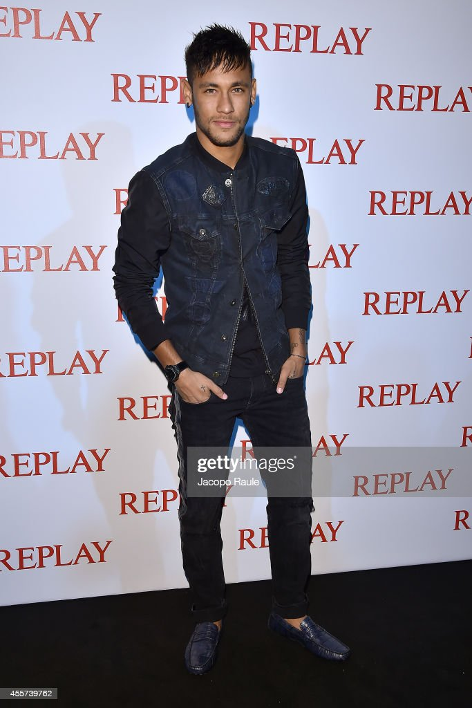 Neymar attends Replay Store Preview during Milan Fashion Week Womenswear Spring/Summer 2015 on September 19, 2014 in Milan, Italy.
