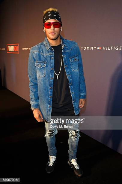 Neymar attends the Tommy Hilfiger TOMMYNOW Fall 2017 Show during London Fashion Week September 2017 at The Roundhouse on September 19 2017 in London...
