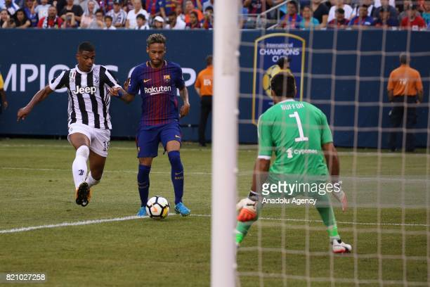 Neymar Barcelona in action against Gianluigi Buffon of Juventus during the International Champions Cup 2017 friendly match between Juventus and...