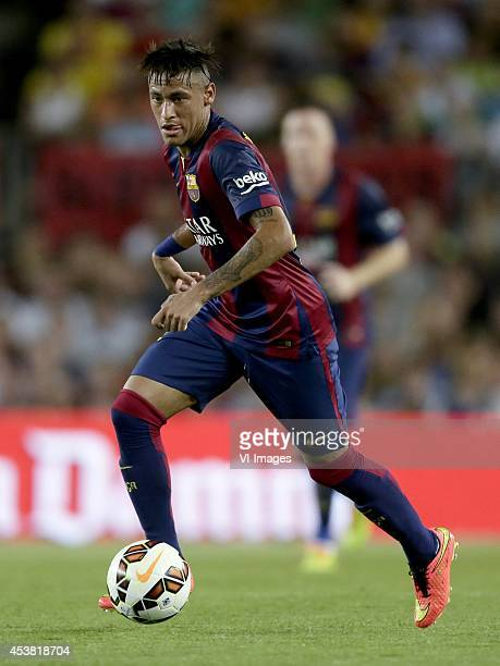 Neymar da Silva Santos Junior Jr of FC Barcelona during the Joan Gamper Trophy match between FC Barcelona and Leon FC at Camp Nou on august 18 2014...