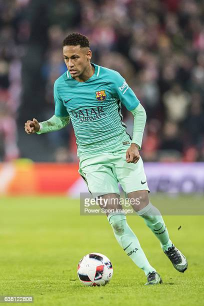 Neymar da Silva Santos Junior of FC Barcelona in action during their Copa del Rey Round of 16 first leg match between Athletic Club and FC Barcelona...
