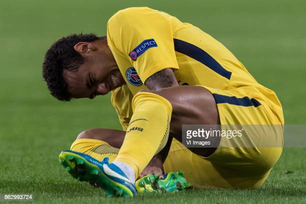 Neymar da Silva Santos Junior of Paris SaintGermain during the UEFA Champions League group B match between RSC Anderlecht and Paris Saint Germain on...