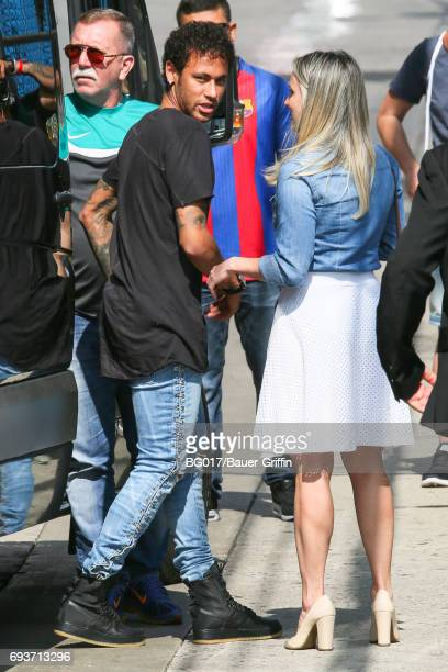 Neymar is seen at 'Jimmy Kimmel Live' on June 07 2017 in Los Angeles California