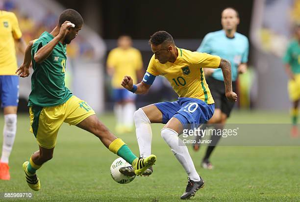 Neymar Jr Brazil at Mane Garrincha Stadium on August 4 2016 in Brasilia Brazil