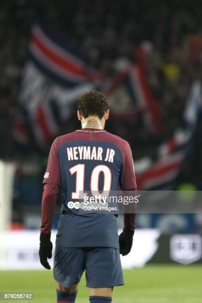 Neymar Jr during the French Ligue 1 soccer match between Paris Saint Germain and FC Nantes at Parc des Princes