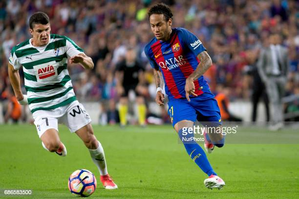 Neymar Jr during the Liga match betwen FC Barcelona and SD Eibar at Camp Nou stadium in Barcelona Spain on May 21 2017