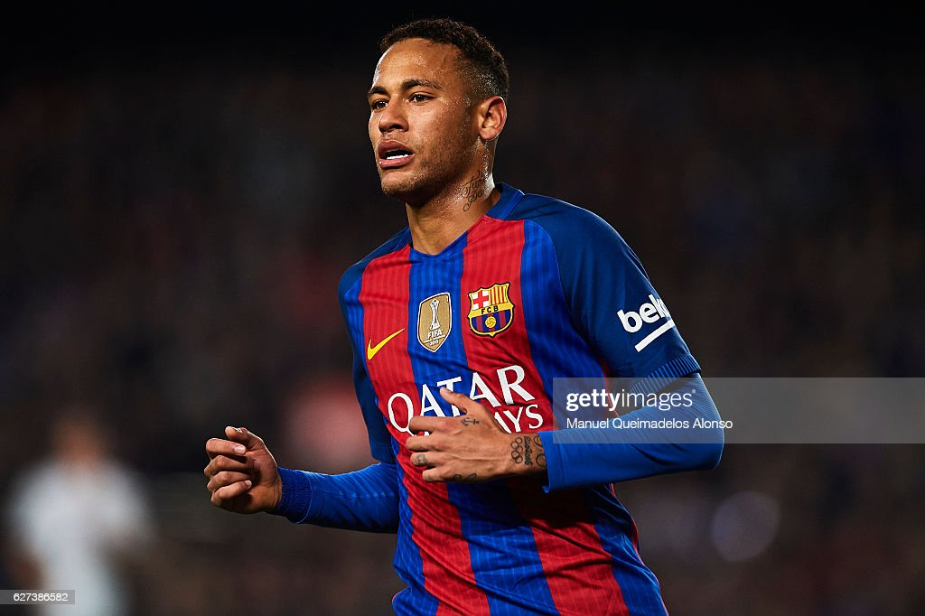 Neymar Jr of FC Barcelona looks on during La Liga match between FC Barcelona and Real Madrid CF at Camp Nou Stadium on December 3 2016 in Barcelona...