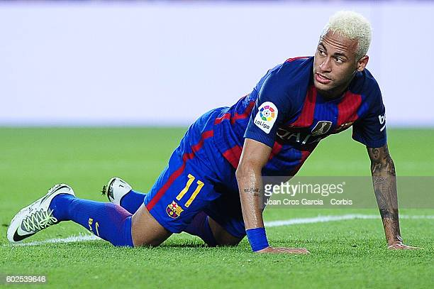 Neymar Jr of FCBarcelona during the Spanish League match between FC Barcelona vs Deportivo Alavés at Nou Camp on September 2016 in Barcelona Spain