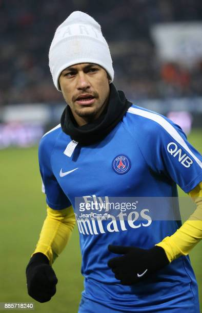 Neymar Jr of PSG during the French Ligue 1 match between RC Strasbourg Alsace and Paris Saint Germain at Stade de la Meinau on December 2 2017 in...