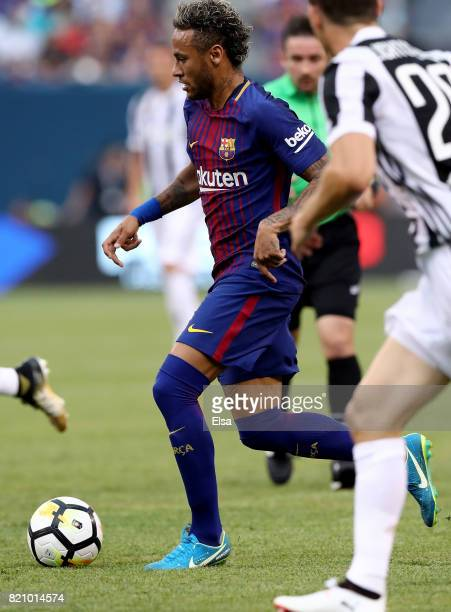 Neymar of Barcelona drives to the goal in the first half against Juventus during the International Champions Cup 2017 on July 22 2017 at MetLife...