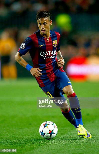 Neymar of Barcelona tin action during the UEFA Champions League Quarter Final second leg match between FC Barcelona and Paris SaintGermain at Camp...