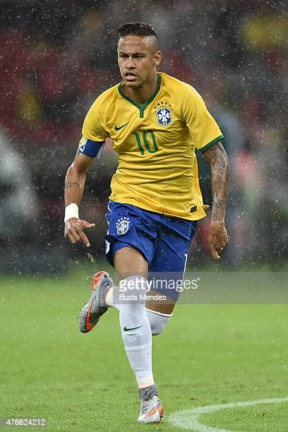 Neymar of Brazil in action during the International Friendly Match between Brazil and Honduras at Beira Rio Stadium on June 10 2015 in Porto Alegre...