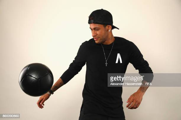 Neymar of Brazil poses during The Best FIFA Football Awards at The May Fair Hotel on October 23 2017 in London England