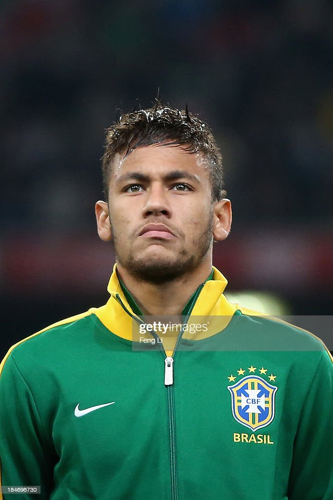 Neymar of Brazil poses during the international friendly match between Brazil and Zambia at Beijing National Stadium on October 15, 2013 in Beijing, China.