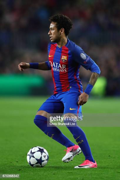 Neymar of FC Barcelona in action during the UEFA Champions League Quarter Final second leg match between FC Barcelona and Juventus at Camp Nou on...