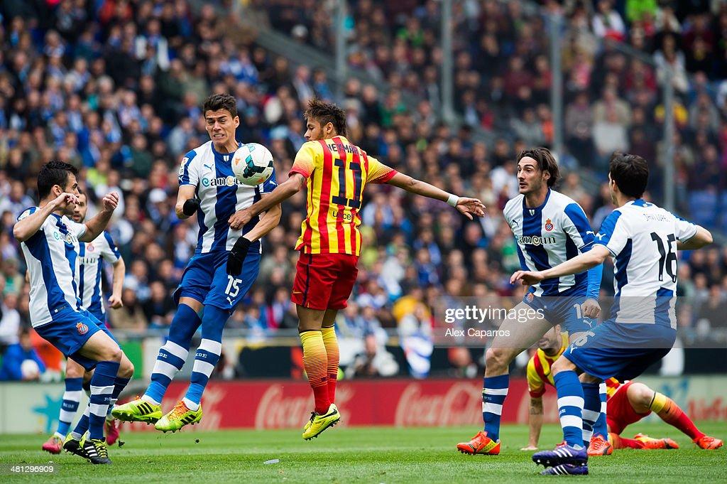 Rcd espanyol v fc barcelona la liga getty images - Hector santos ...