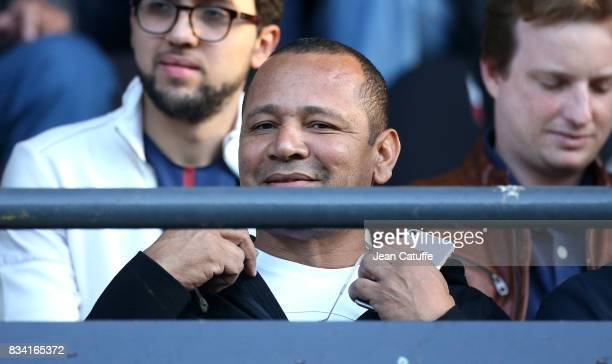 Neymar Senior aka Neymar da Silva Santos Sr attends the French Ligue 1 match between En Avant Guingamp and Paris Saint Germain at Stade de Roudourou...