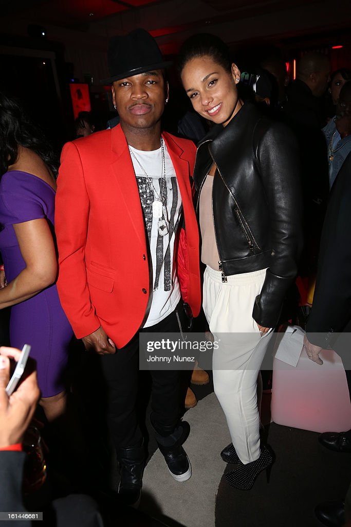 Ne-Yo and Alicia Keys attend House Of Hype Monster Grammy Party at House Of Hype on February 10, 2013 in Los Angeles, California.