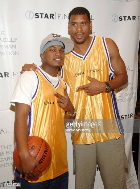 NeYo and Allan Houston during NeYo Laces Up His Hightops in Charity Basketball Shootout at Madison Square Garden in New York City New York United...