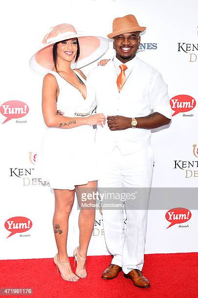 NeYo and guest attend the 141st Kentucky Derby at Churchill Downs on May 2 2015 in Louisville Kentucky