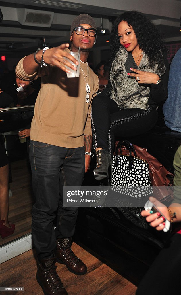 Ne-Yo and Monyetta Shaw attend T.I. 'Trouble Man Heavy Is The Head' Album Release Party at Compound on December 22, 2012 in Atlanta, Georgia.