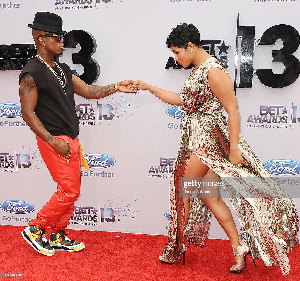 Ne-Yo and Ravaughn Brown attend the 2013 BET Awards at Nokia Theatre L.A. Live on June 30, 2013 in Los Angeles, California.