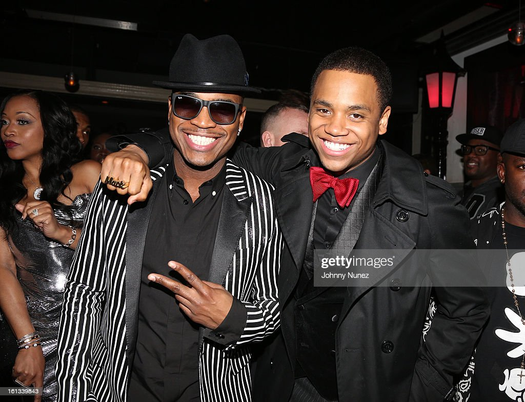 Ne-Yo and Tristan Wilds attend Compound Entertainment And Malibu Red GRAMMY Midnight Brunch 2013 at Bagatelle/STK on February 9, 2013 in West Hollywood, California.