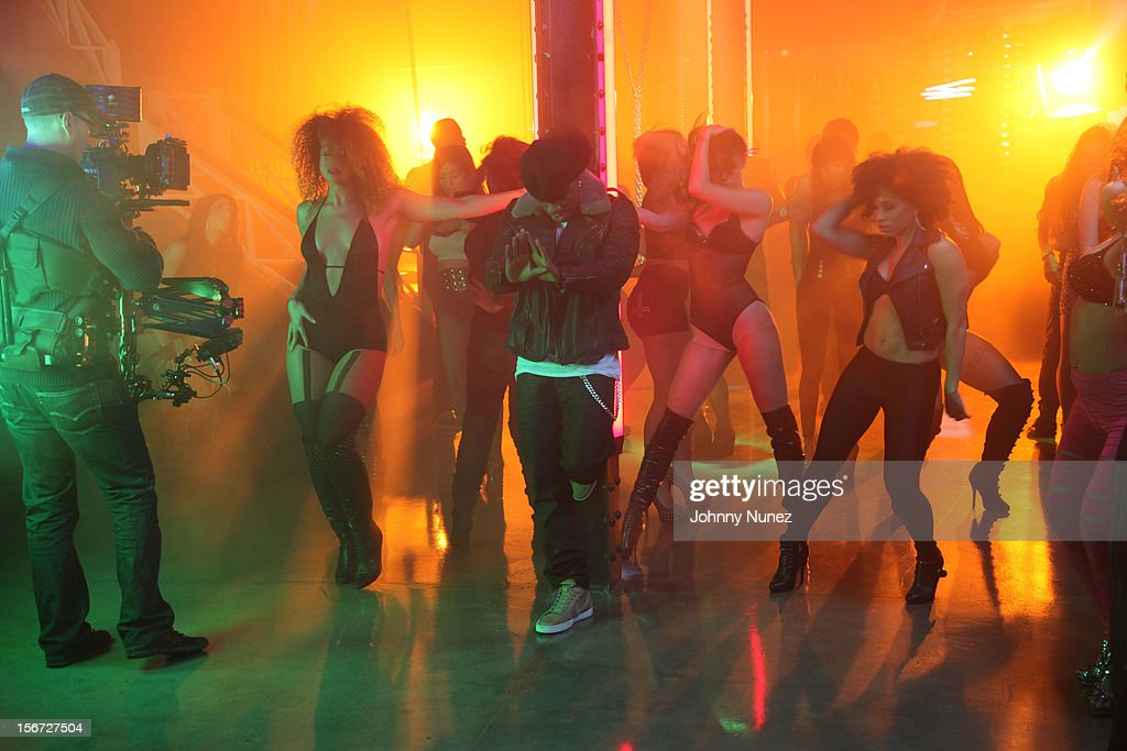 Ne-Yo attends Ne-Yo's 'Let Me Love You' Remix Video Shoot at Prime on November 19, 2012 in New York City.