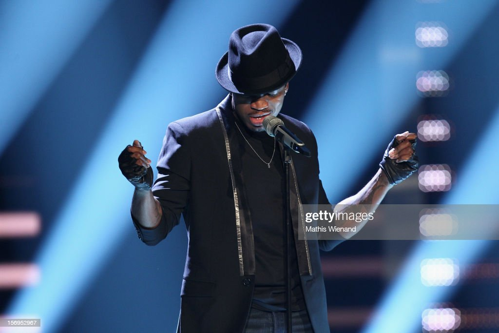 Ne-Yo attends the fourth and final 'X-Factor' Show on November 25, 2012 in Cologne, Germany.
