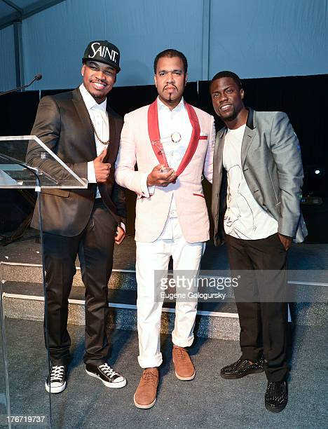 NeYo Johnny Nunez and Kevin Hart attend the The Compound Foundation 2nd Annual 'Fostering A Legacy' Benefit Hosted By NeYO Mission BIG on August 17...