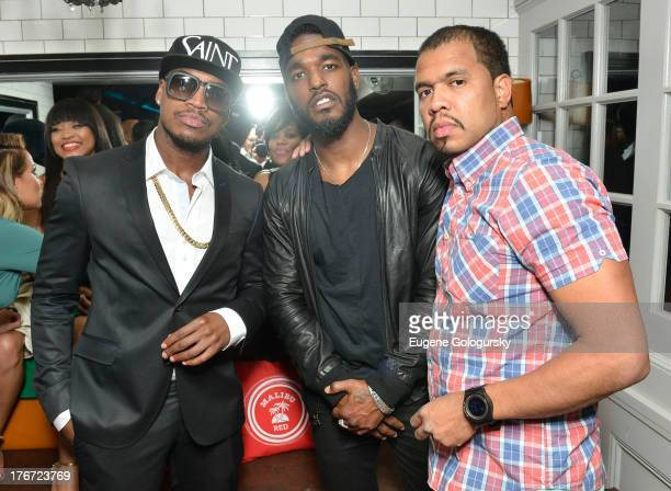 NeYo Luke James and Johnny Nunez attend The Compound Foundation Presents The 2nd Annual 'Fostering A Legacy' Official After Party Hosted By NeYO...