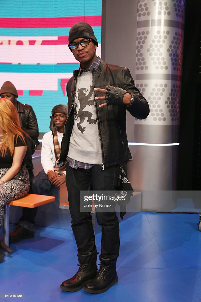 <a gi-track='captionPersonalityLinkClicked' href=/galleries/search?phrase=Ne-Yo&family=editorial&specificpeople=451543 ng-click='$event.stopPropagation()'>Ne-Yo</a> visits BET's '106 & Park' at BET Studios on February 21, 2013 in New York City.