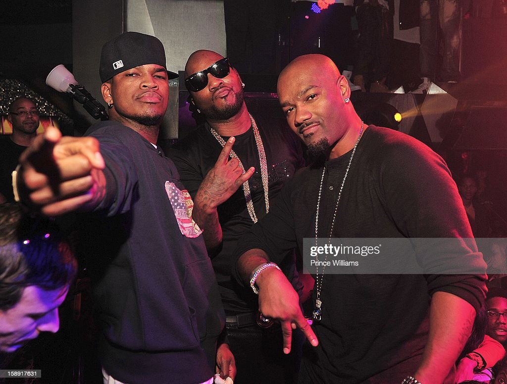 Neyo, Young Jeezy and Big Tigger attend the T.I. Welcome To Atlanta Party for Big Tigger at Reign Nightclub on January 1, 2013 in Atlanta, Georgia.