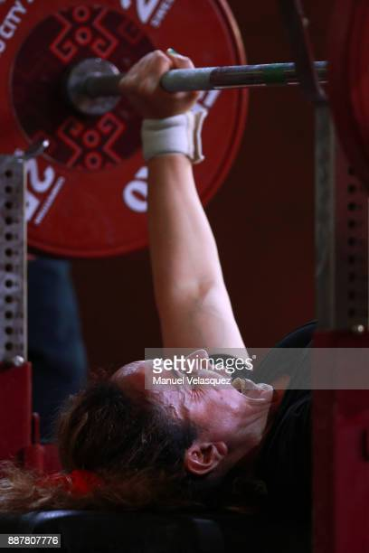 Nezha Binane of Morocco competes during the Women's Up to 61Kg Group A Category as part of the World Para Powerlifting Championship Mexico 2017 in...