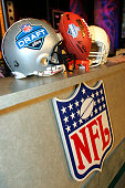 NFl items are seen during the 70th NFL Draft on April 23 2005 at the Jacob K Javits Convention Center in New York City Smith was drafted first...