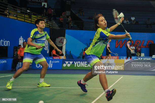 Ng Eng Cheong and Ee Wei Toh of Malaysia compete against Hauke Graalmann and Stine Susan Kuspert of Germany during Mixed Double qualification round...