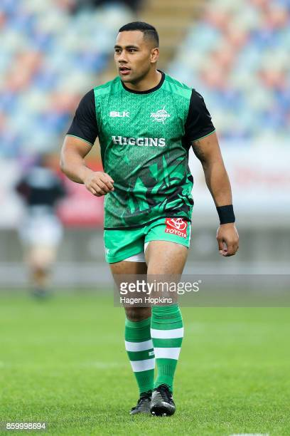 Ngani Laumape of Manawatu looks on during the round nine Mitre 10 Cup and Ranfurly Shield match between Taranaki and Manawatu at Yarrow Stadium on...