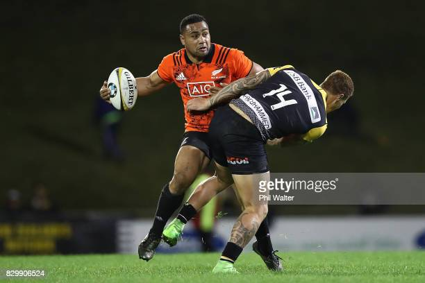 Ngani Laumape of the All Blacks during the Game of Three Halves between the All Blacks and Taranaki at ECOLight Stadium on August 11 2017 in Pukekohe...