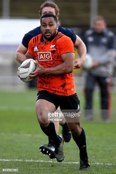 Ngani Laumape of the All Blacks during the New Zealand All Blacks training session at Yarrow Stadium on September 7 2017 in New Plymouth New Zealand