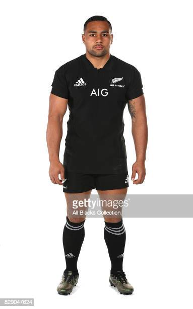 Ngani Laumape poses during a New Zealand All Blacks headshots session at The Heritage Hotel on August 10 2017 in Auckland New Zealand