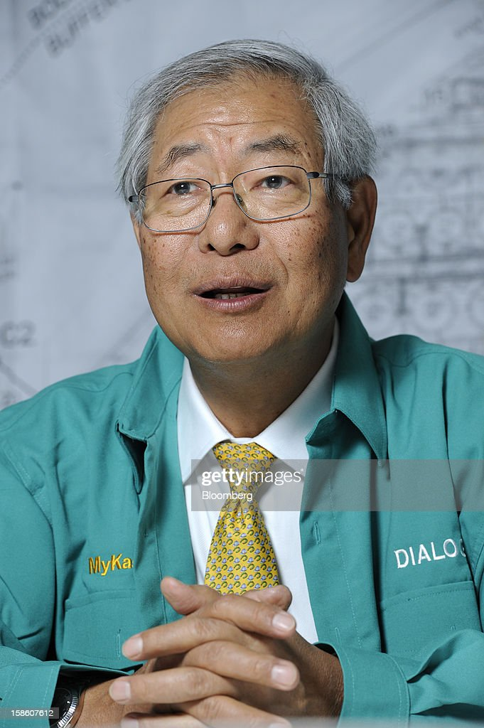 Ngau Boon Keat, managing director of Dialog Group Bhd., speaks during an interview in Pengerang, Johor, Malaysia, on Tuesday, Dec. 18, 2012. Dialog, Malaysia's second-biggest oil and gas services provider, said it signed some customers for the 1.9 billion-ringgit ($620 million) storage terminal it's developing with Royal Vopak NV. Photographer: Munshi Ahmed/Bloomberg via Getty Images