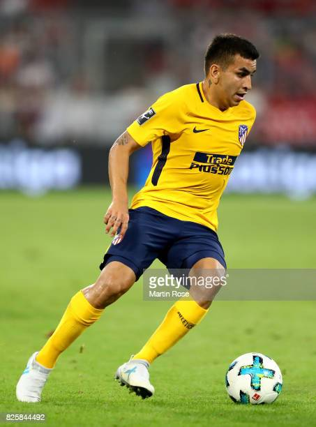 Ángel Correa of Atletico Madrid runs with the ball during the Audi Cup 2017 match between Liverpool FC and Atletico Madrid at Allianz Arena on August...