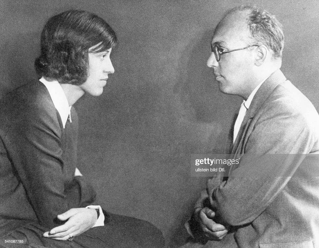 . /nGerman composer. Photographed in 1930 with his wife, the Austrian singer and actress Lotte Lenya (1898-1981).