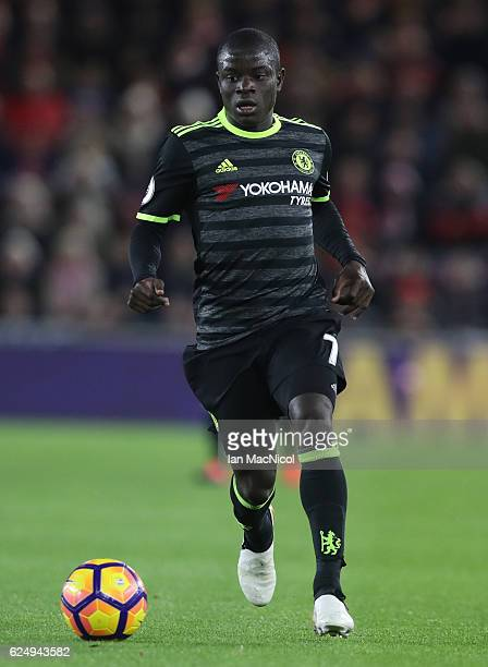Ngolo Kante of Chelsea controls the ball during the Premier League match between Middlesbrough and Chelsea at Riverside Stadium on November 20 2016...