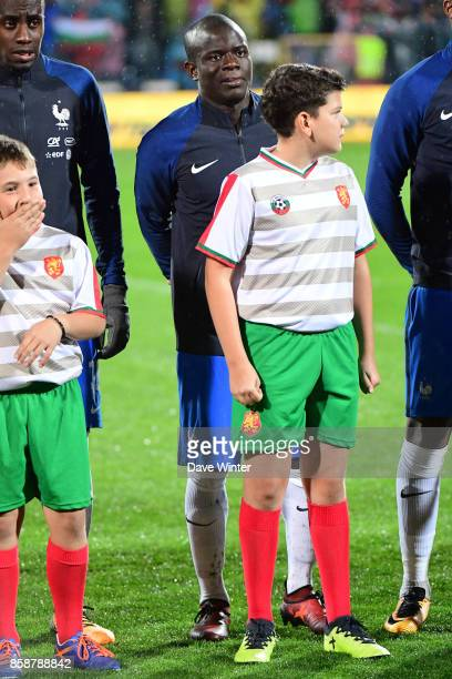 Ngolo Kante of France behind a ballboy almost as tall as him during the Fifa 2018 World Cup qualifying match between Bulgaria and France on October 7...