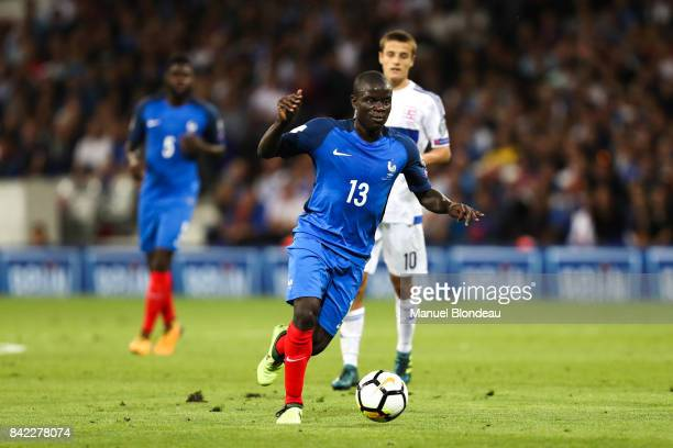 Ngolo Kante of France during the Fifa 2018 World Cup qualifying match between France and Luxembourg at on September 3 2017 in Toulouse France