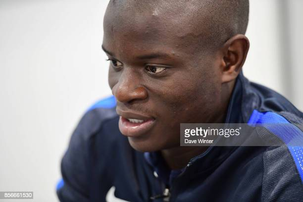Ngolo Kante of France during the press conference at Centre National du Football on October 2 2017 in Clairefontaine en Yvelines France