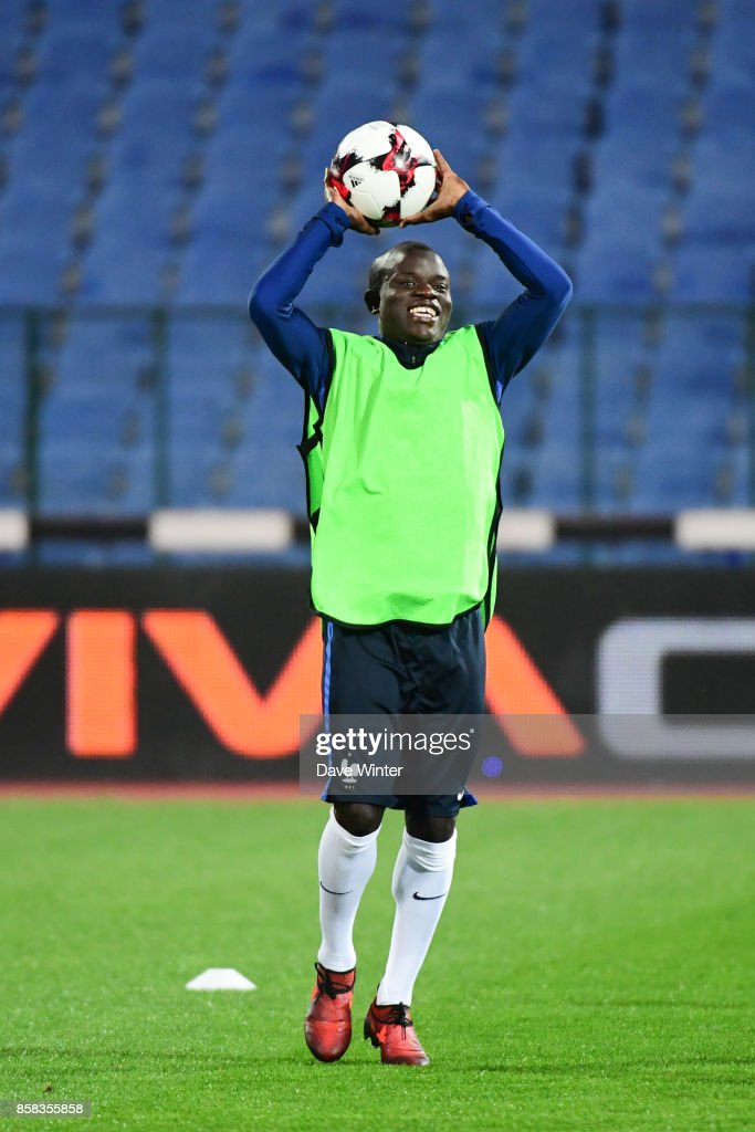 Ngolo Kante of France during the training session of the France football team ahead the World Cup qualifying match against Bulgaria on October 6, 2017 in Sofia, Bulgaria.