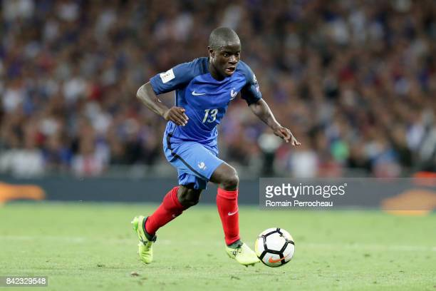 Ngolo Kante of France in action during the FIFA 2018 World Cup Qualifier between France and Luxembourg at Stadium on September 3 2017 in Toulouse...